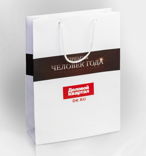 Пакет бумажный с логотипом рязань